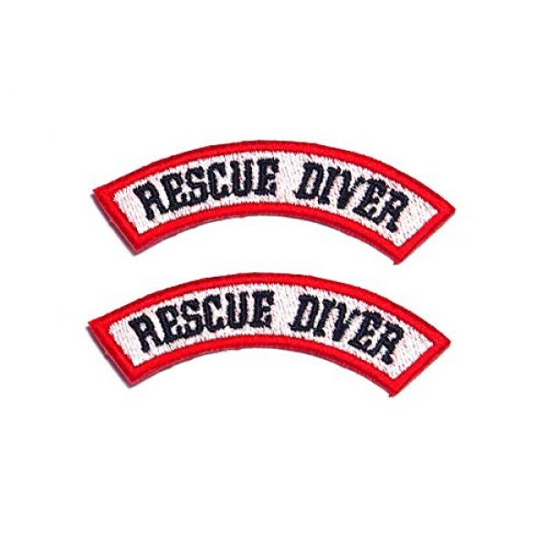 AstroG Airsoft Morale Patch 1 AstroG@ BP20 2 X Rescue Diver Scuba Diving EMT EMS Embroidered Morale Patch 7.5 X 1.5 cm Hook Backing