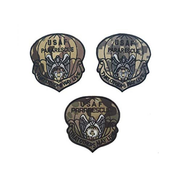 DPAINTouscap Airsoft Morale Patch 1 USAF Airborne Paratrooper Pararescue Tactical Patches Embroidered Military Patch Morale Patches