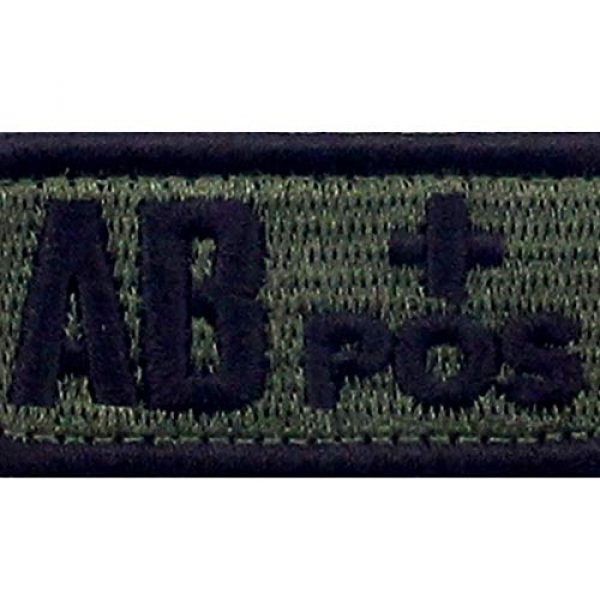 """EmbTao Airsoft Morale Patch 2 EmbTao Type AB Positive Tactical Blood Type Patch Embroidered Morale Applique Fastener Hook & Loop Emblem - Green & Black - 2""""x1"""""""