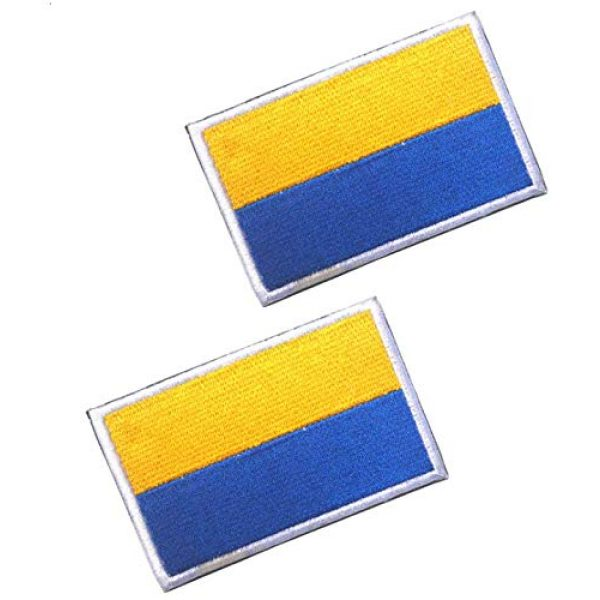 Tactical Embroidery Patch Airsoft Morale Patch 1 2pcs Ukraine Flag Embroidery Patch Military Tactical Morale Patch Badges Emblem Applique Hook Patches for Clothes Backpack Accessories