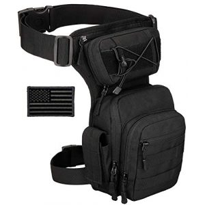 Protector Plus Tactical Pouch 1 Protector Plus Tactical Drop Leg Bag Military Tool Gear Fanny Thigh Pack Utility Airsoft Motorcycle Cycling Waist Gear Pouch (Patch Included)