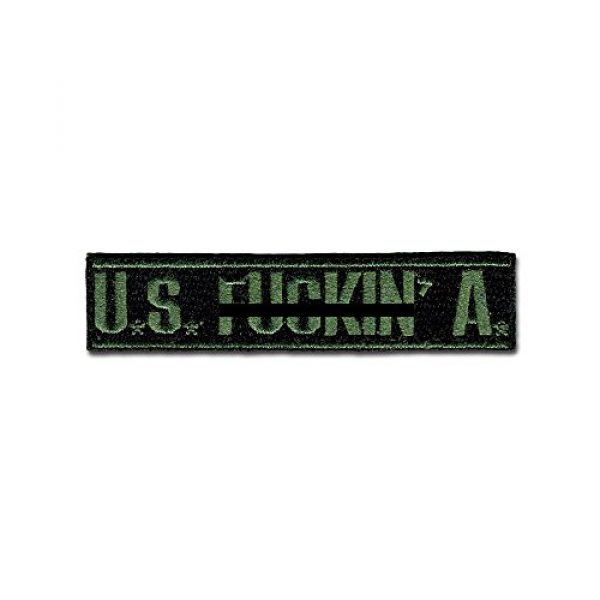 BASTION Airsoft Morale Patch 1 BASTION Morale Patches (U.S. Fxxxin' A, ODG) | 3D Embroidered Patches with Hook & Loop Fastener Backing | Well-Made Clean Stitching, Military Patches Ideal for Tactical Bag, Hats & Vest