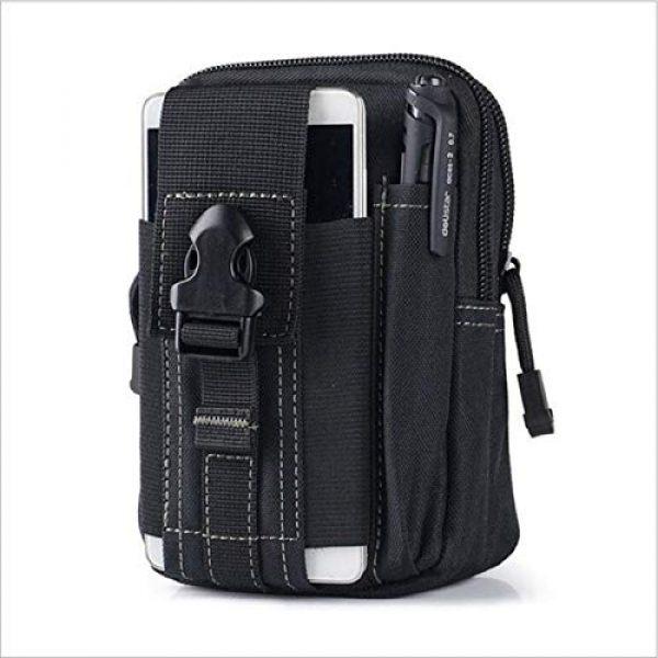 Bonlting Tactical Pouch 1 Outdoor Waist Bag Portable Waterproof Compact Cell Phone Carrying Case Holster Belt Waist Pouch with Zipper(Black)