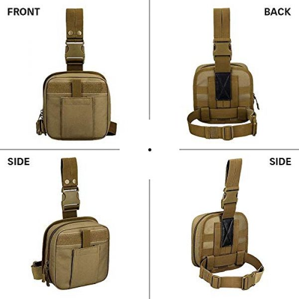 ACOMOO Tactical Pouch 2 ACOMOO Multifunctional Drop Leg Waist Bag - Tactical Thigh Brown Size No Size