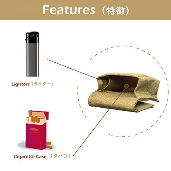 TRIWONDER Tactical Pouch 3 TRIWONDER Tactical Cigarette Pouch Molle Small Military Bag Battery Cigarette Case EDC Utility Card Holder Lighter Slot Mini Cigar Waist Pack