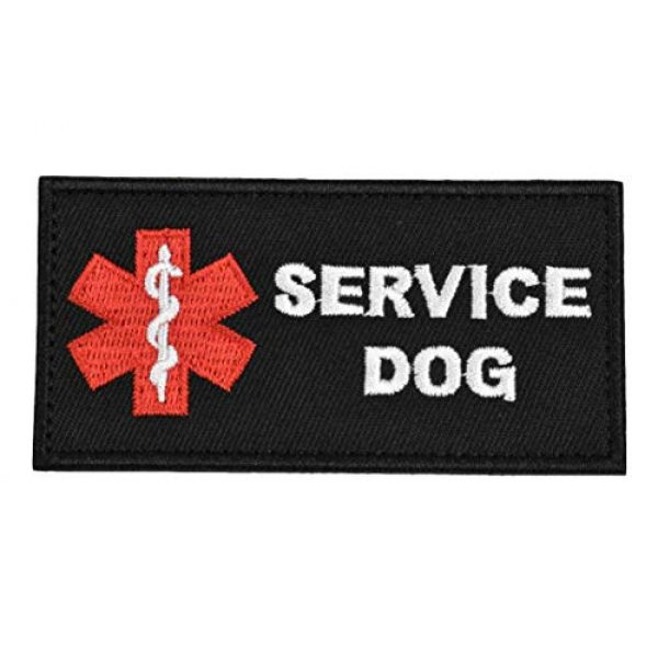 JFFCE Airsoft Morale Patch 1 JFFCE Service Dog Patch Medic Paramedic Star of Life Vests/Harnesses Tactical Dog Pack Hound Backpack Morale Badge Applique Hook & Loop Fastener Patch (F Serice Dog)