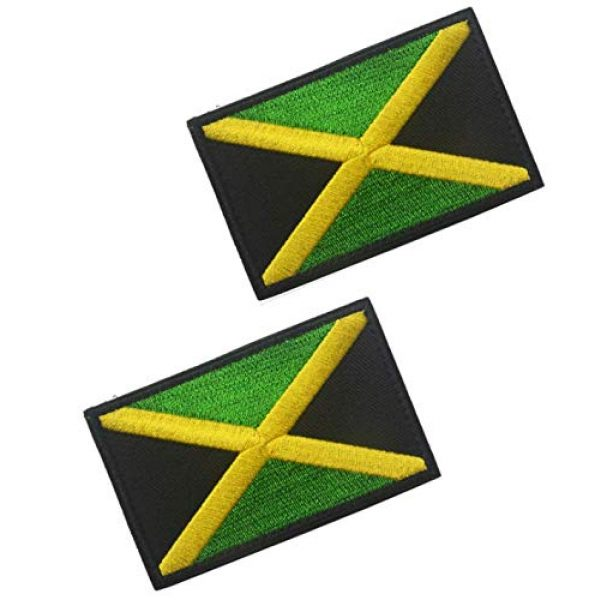 Tactical Embroidery Patch Airsoft Morale Patch 1 2pcs Jamaica Flag Embroidery Patch Military Tactical Morale Patch Badges Emblem Applique Hook Patches for Clothes Backpack Accessories