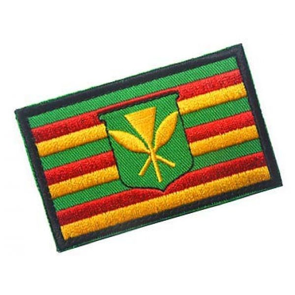 Embroidery Patch Airsoft Morale Patch 2 Kanaka Maoli Flag Hawaii Historical Native Hawaiian Military Hook Loop Tactics Morale Embroidered Patch