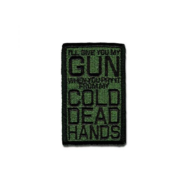 BASTION Airsoft Morale Patch 1 BASTION Morale Patches (Cold Dead Hands, ODG)   3D Embroidered Patches with Hook & Loop Fastener Backing   Well-Made Clean Stitching, Military Patches Ideal for Tactical Bag, Hats & Vest