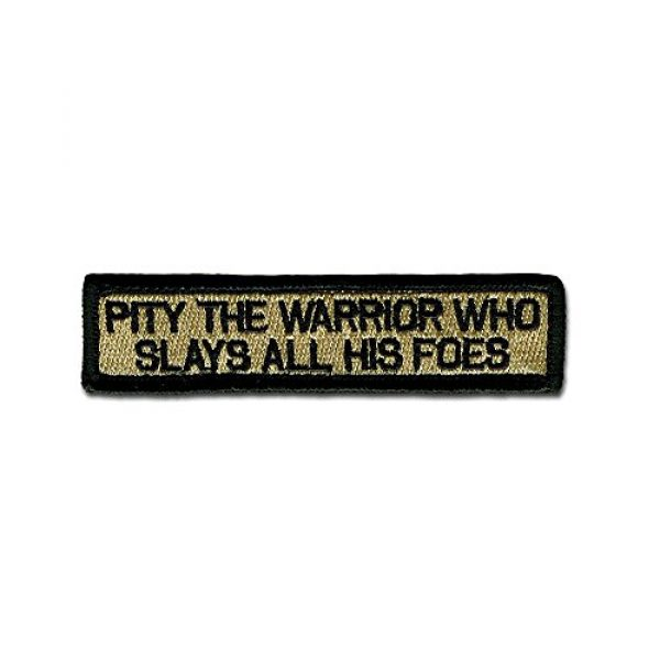 BASTION Airsoft Morale Patch 1 BASTION Morale Patches (Pity The Warrior, ACU) | 3D Embroidered Patches with Hook & Loop Fastener Backing | Well-Made Clean Stitching | Military Patches Ideal for Tactical Bag, Hats & Vest