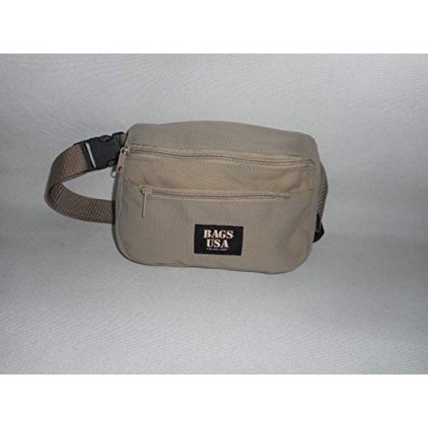 BAGS USA Tactical Pouch 1 BAGS USA Law Enforcement Fanny Pack,Gun Fanny Pack with Hidden Pocket,Made in U.s.a.