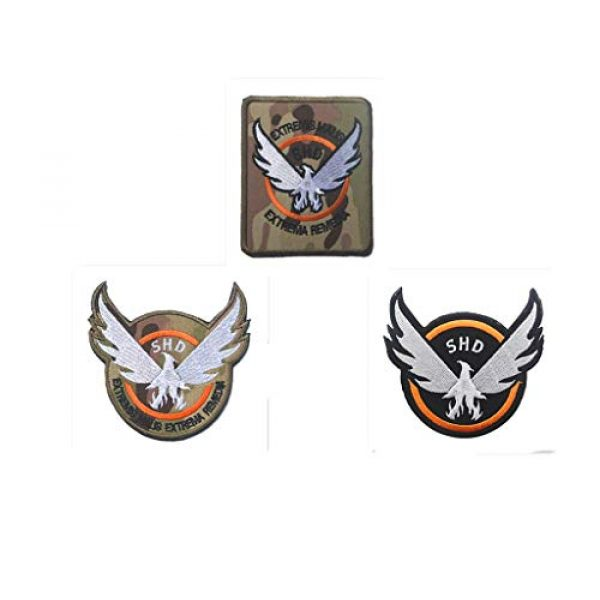Embroidery Patch Airsoft Morale Patch 1 3 Pieces Tom Clancy's The Division Agent SHD Logo Military Hook Loop Tactics Morale Embroidered Patch (color4)