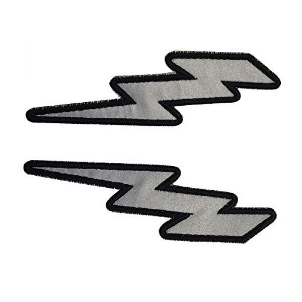 APBVIHL Airsoft Morale Patch 5 IR Infrared Reflective Lightning Bolt Patch Set, Military Tactical Morale Emblem Hook and Loop Fastener Backing Motorcycle MC Patches Armband Badges for Clothing Accessory Backpack