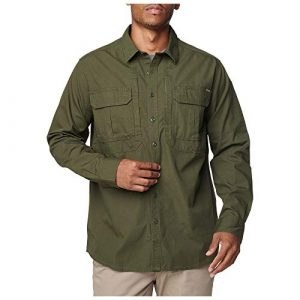 5.11 Tactical Shirt 1 5.11 Tactical Men's Expedition Long Sleeve Shirt, Stone Wash Moss, L, 72466