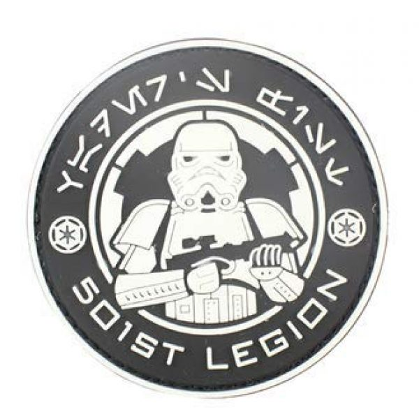 Tactical PVC Patch Airsoft Morale Patch 2 Star Wars 501st Stormtrooper Legion Logo PVC Military Tactical Morale Patch Badges Emblem Applique Hook Patches for Clothes Backpack Accessories