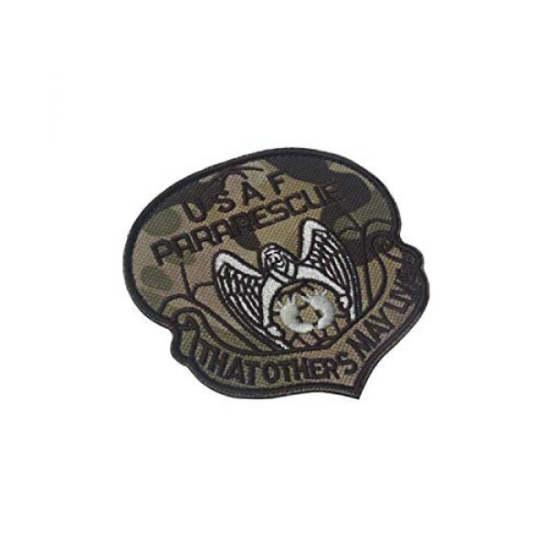 DPAINTouscap Airsoft Morale Patch 4 USAF Airborne Paratrooper Pararescue Tactical Patches Embroidered Military Patch Morale Patches