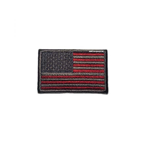"""AMCompanyLtd Airsoft Morale Patch 1 USA Flag Patch. 6 Types. Tactical Morale Patch. Shoulder Emblem of America. Hook and Loop. Fastener for Backpacks Caps Hats. (Size: 3.14""""x1.96"""") (Grayscale)"""