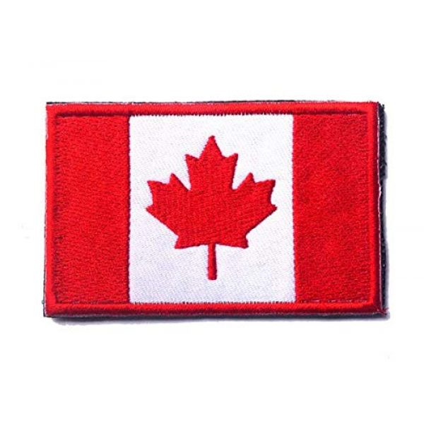 Tactical Embroidery Patch Airsoft Morale Patch 1 Canada Flag Embroidery Patch Military Tactical Morale Patch Badges Emblem Applique Hook Patches for Clothes Backpack Accessories