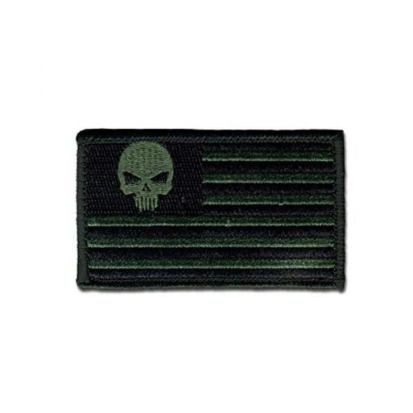 BASTION Airsoft Morale Patch 1 BASTION Morale Patches (Skull in Star Field, ODG) | 3D Embroidered Patches with Hook & Loop Fastener Backing | Well-Made Clean Stitching | Military Patches Ideal for Tactical Bag, Hats & Vest