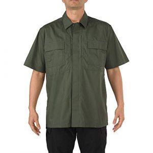 5.11 Tactical Shirt 1 Tactical Men's TDU Short Sleeve Polo Shirt, Breathable Fabric, Teflon Finish, Style 71339