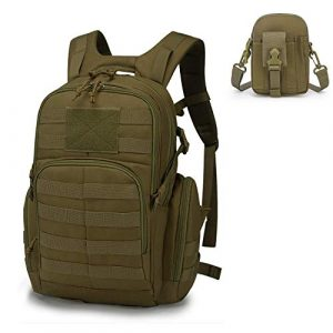 Mardingtop Tactical Backpack 1 Mardingtop Bundle Items: 25L Molle Hiking Tactical Backpack Khaki