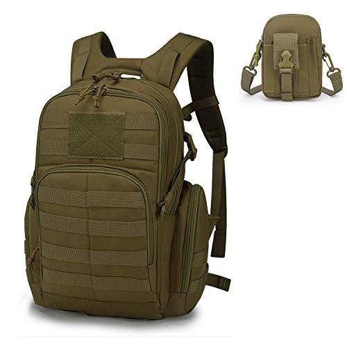 Mardingtop Tactical Backpack 1 Mardingtop Bundle Items: 25L Molle Hiking Tactical Backpack Khaki