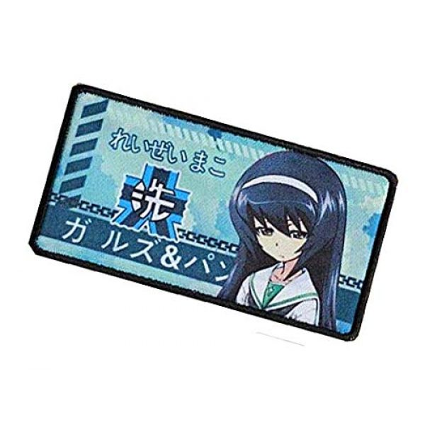 Fine Print Patch Airsoft Morale Patch 3 Japan Anime Girls & Panzer Hook Loop Tactics Morale Printed Patch (color5)