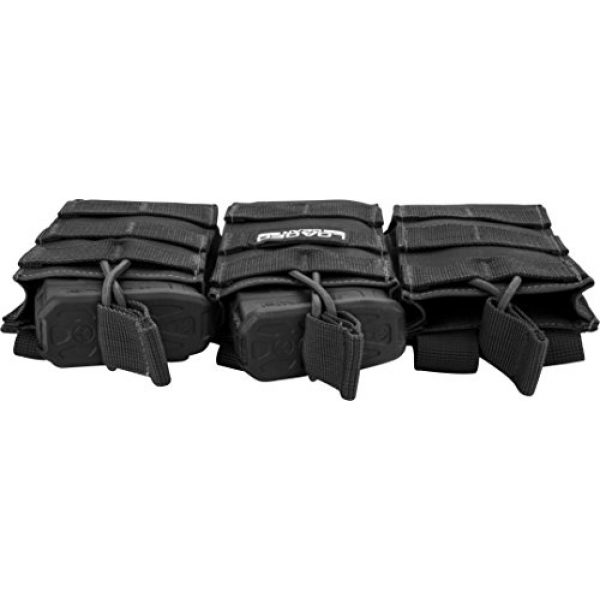 BARSKA Tactical Pouch 4 BARSKA Loaded Gear Tactical Triple Stacker Open Top Magazine M4 M16 AR15 Molle Mag Pouch