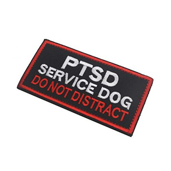 Zhikang68 Airsoft Morale Patch 3 Service Dog PTSD Patch Vests/Harnesses Do Not Distract Applique Embroidered Fastener Hook & Loop Emblem Military Tactical Army Morale Patches for Dogs and Pets