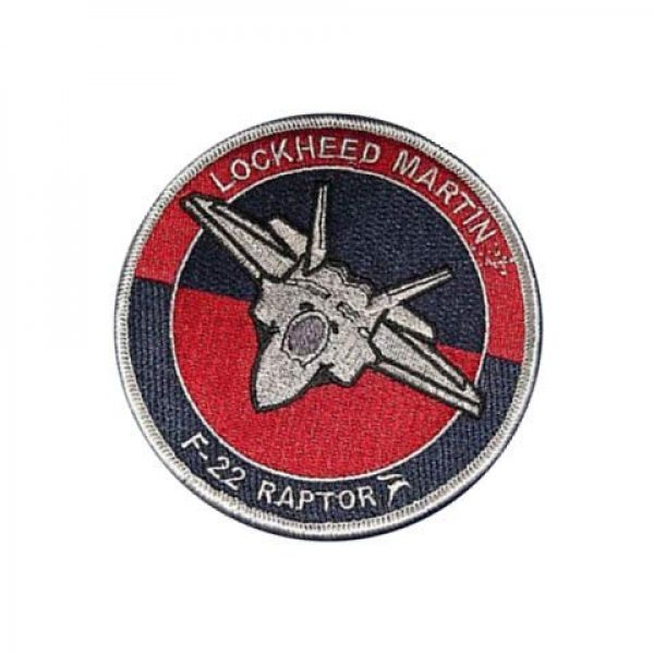 Embroidery Patch Airsoft Morale Patch 3 Lockheed F-22 Raptor Stealth Fighter Military Hook Loop Tactics Morale Embroidered Patch
