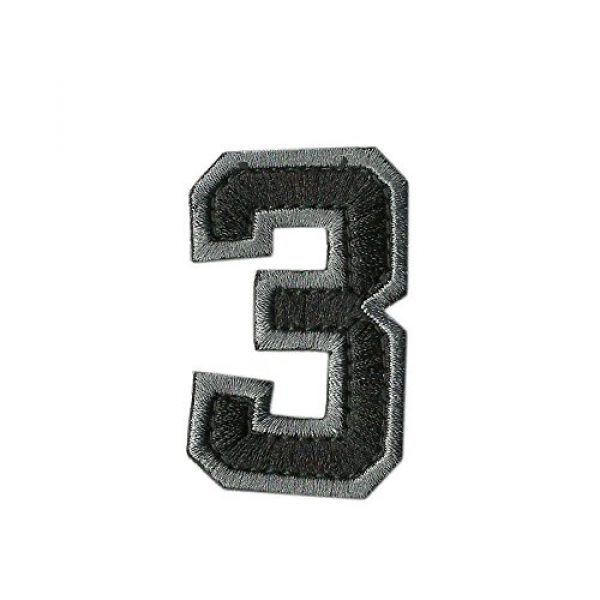 Gadsden and Culpeper Airsoft Morale Patch 4 Tactical Numbers Patches - Silver/Black