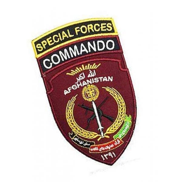 Embroidery Patch Airsoft Morale Patch 2 Afghanistan Special Forces Commando Military Hook Loop Tactics Morale Embroidered Patch