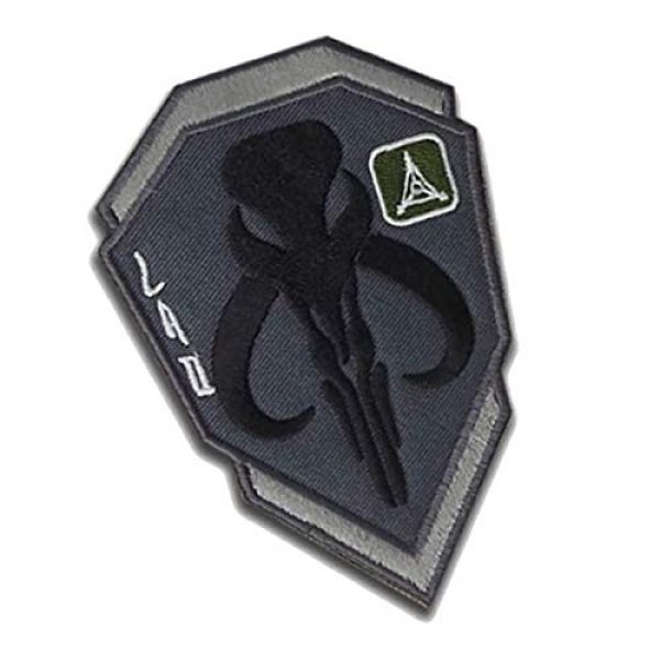 Great Supplier Airsoft Morale Patch 5 Mandalorian Mythosaur Skull Crest Shield Embroidered Patch Emblem Tactical Military Morale Funny Badages Appliques Patches with Fastener Hook and Loop Backing, 3.94 x 2.76 Inch