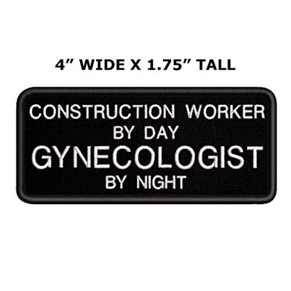 Appalachian Spirit Airsoft Morale Patch 2 Construction Worker by Day Gynocologist by Night Tactical Saying Morale Military Tag Embroidered Premium Patch DIY Iron-on or Sew-on Decorative Badge Emblem Gear Clothes Appliques