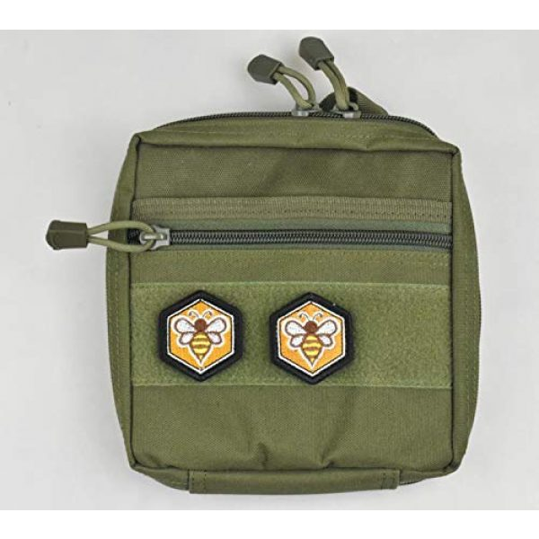 JFFCE Airsoft Morale Patch 3 Great Originality Morale Patch Full Embroidery Military Patch for Caps,Bags,Backpacks,Clothes,Tactical Vest,Military Uniforms (Bee)