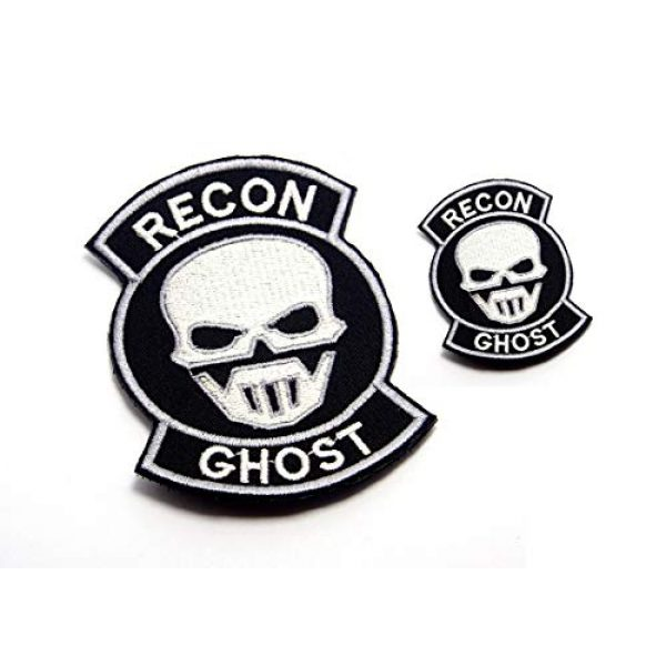 AstroG Airsoft Morale Patch 2 AstroG 2 Pcs Ghost Recon Embroidered Morale Patch 9.5X7 cm and 4.5X3.5 cm for Sew-on Only