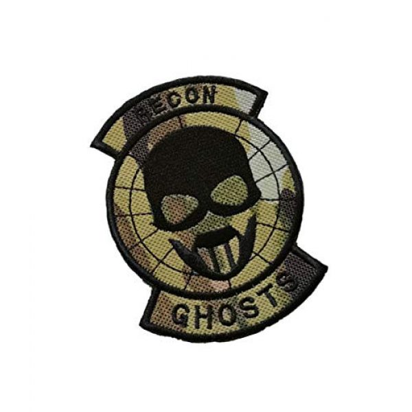 Embroidery Patch Airsoft Morale Patch 2 Ghost Recon Applique Military Hook Tactics Morale Embroidered Patch