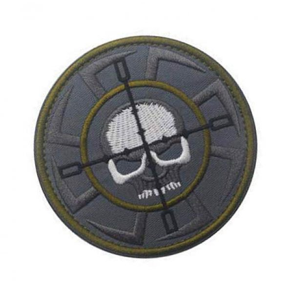 Embroidery Patch Airsoft Morale Patch 2 Russia FSB, ALFA Team Kolovrat Skull Military Hook Loop Tactics Morale Embroidered Patch