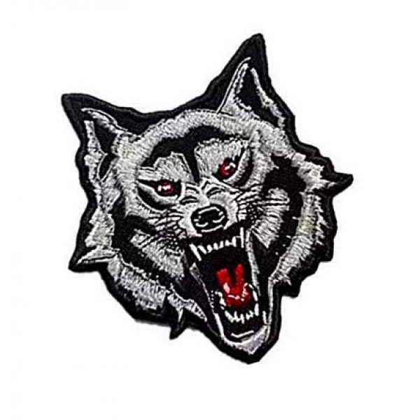 Embroidery Patch Airsoft Morale Patch 2 Grey Arctic Wild Lone Wolf Patch Military Hook Loop Tactics Morale Embroidered Patch