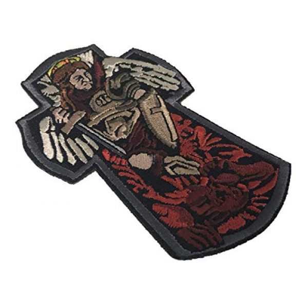 F-Bomb Morale Gear Airsoft Morale Patch 2 St. Michael The Archangel - 100% Embroidered Morale Patch with Hook and Loop Backing