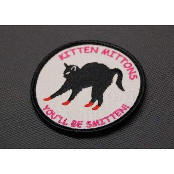 BritKitUSA Airsoft Morale Patch 2 BritKitUSA Kitten Mittons Morale Patch It's Always Sunny in Philadelphia Charlie Day Hook Backing