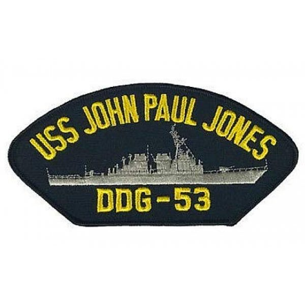 Embroidery Patch Airsoft Morale Patch 1 USS John Paul Jones DDG-53 Military Hook Loop Tactics Morale Embroidered Patch