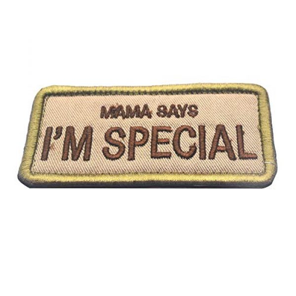 CREATOR Airsoft Morale Patch 1 Mama Says I'm Special Tactical Patch Military Embroidered Hook & Loop Patch for Men, Children and Pets