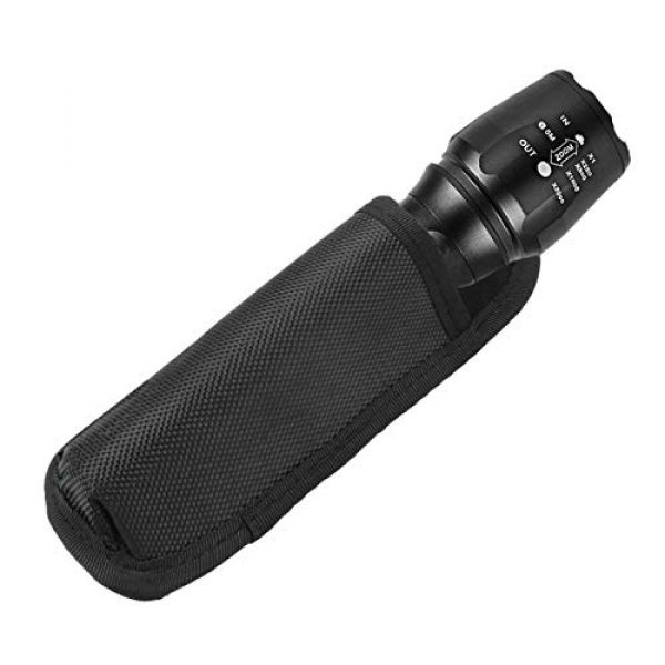 abcGoodefg Tactical Pouch 2 abcGoodefg Tactical Flashlight Holster for Duty Belt Long Clip-On Flashlight Holder Pouch Compact Torch Handheld LED Flashlight Carrier Case, Black 1 Pack