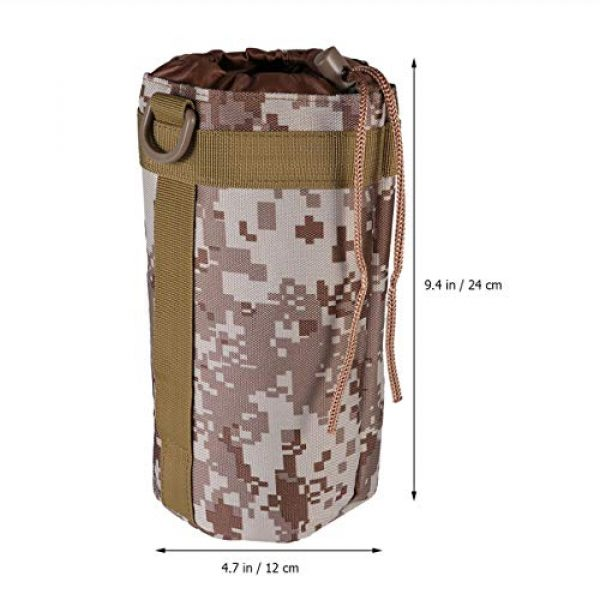 BESPORTBLE Tactical Pouch 4 BESPORTBLE Molle Water Bottle Bag Military Kettle Holder Hydration Carrier Crossbody Pouch Pocket for Camping Climbing Cycling Hiking Travelling Black