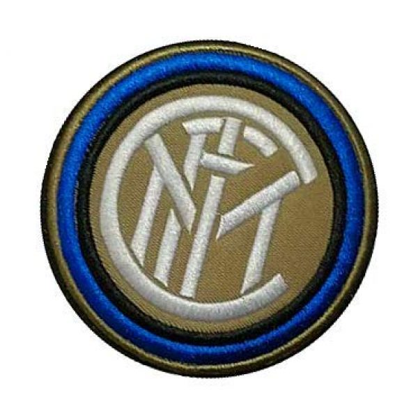 Embroidery Patch Airsoft Morale Patch 3 Italy Inter Milan Football Soccer Club Military Hook Loop Tactics Morale Embroidered Patch