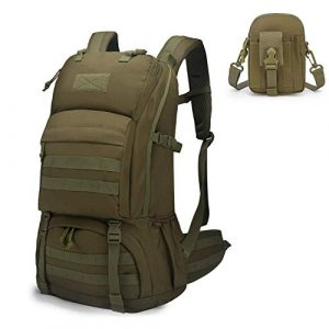 Mardingtop Tactical Backpack 1 Mardingtop Bundle Items: 40L Molle Hiking Tactical Backpack Khaki