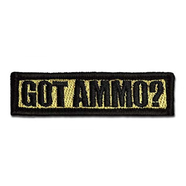 BASTION Airsoft Morale Patch 1 BASTION Morale Patches (Got Ammo, Tan) | 3D Embroidered Patches with Hook & Loop Fastener Backing | Well-Made Clean Stitching | Military Patches Ideal for Tactical Bag, Hats & Vest