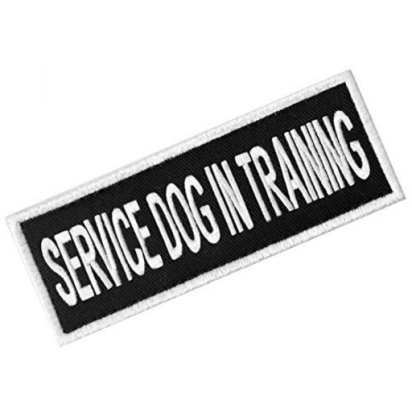 EmbTao Airsoft Morale Patch 3 Service Dog in Training Sign Vests/Harnesses Patch Embroidered Badge Fastener Hook & Loop Emblem, 6 X 2 Inches