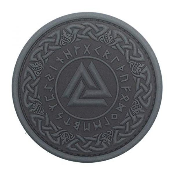 King Kong Somersault Airsoft Morale Patch 1 Viking Odin Valknut Morale Tactical PVC Rubber Patch